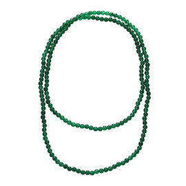 340 Ct Verde Onyx Beaded Necklace 45 Inch