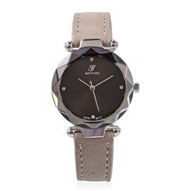 GENOA Diamond (1.3mm) Studded Watch with Gray Strap