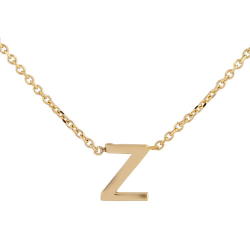 Hatton Garden Close Out - 9K Yellow Gold Initial Z Necklace (Size 15 with 2 Inch Extender)
