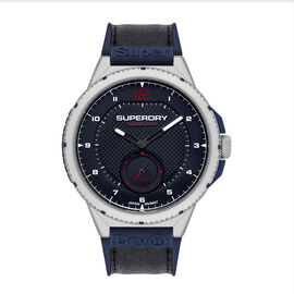 Superdry Marksman Sport Analog Watch with Navy and Black Colour Strap