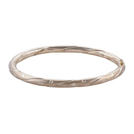 Super Auction - Close Out Deal 9K Yellow Gold Diamond Cut Bangle (Size 7.5), Gold wt 8.57 Gms