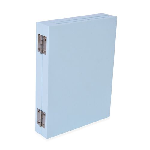 Baby Handprint and Footprint Keepsake Foldable Photo Frame Kit in Light Blue Colour (Size 16.6X12.8X2.8 Cm)