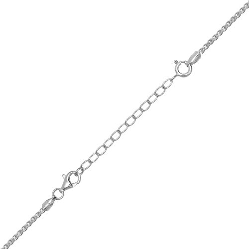 Set of 3 - Rhodium Plated Sterling Silver Chain Extenders (Size 2 Inch, 3 Inch and 4 Inch)