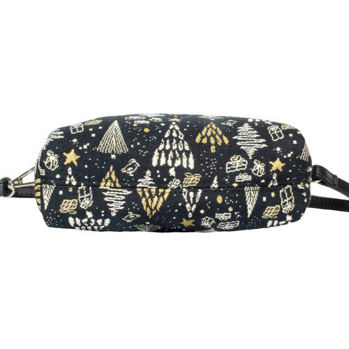 Signare Tapestry - Party Bag in Xmas Tree Design (20 x 12 x 9.5 cms) with Free Zip Coin Purse