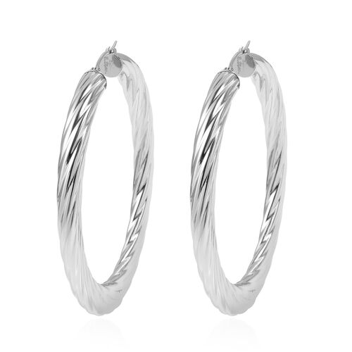 Designer Inspired- Stainless Steel Hoop Earrings (with Clasp)