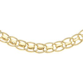 9K Yellow Gold Roller Ball Link Necklace (Size 18), Gold wt 8.80 Gms