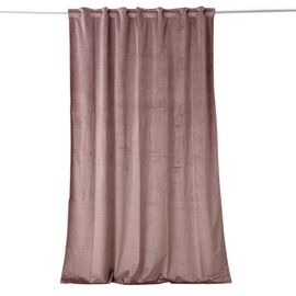 Luxury Edition - Extremely Soft Short Pile Panel Curtain with Hidden Loops in Dusty Rose Colour (Size in Cm 230 Drop x140 Width)