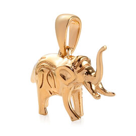 Elephant Goodluck Silver Charm Pendant in Gold Overlay 4.34 Gms.