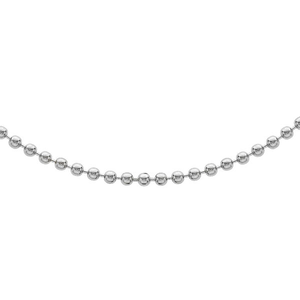 Sterling Silver Ball Bead Chain (Size 20) with Lobster Clasp, Silver wt 5.90 Gms