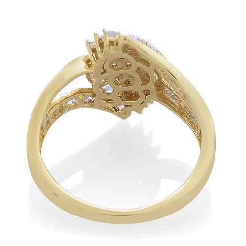 Diamond (Rnd) Ring in 14K Gold Overlay Sterling Silver 1.000 Ct.