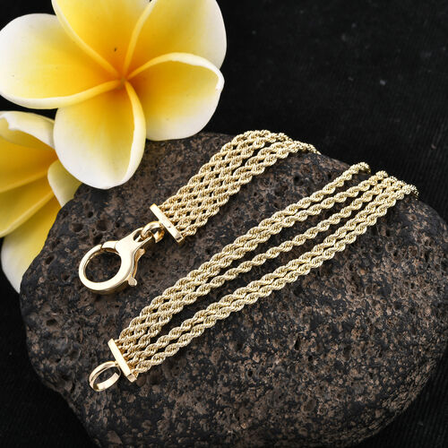 Close Out Deal - 9K Yellow Gold 5 Strand Rope Bracelet (Size 7.25), Gold wt 5.61 Gms