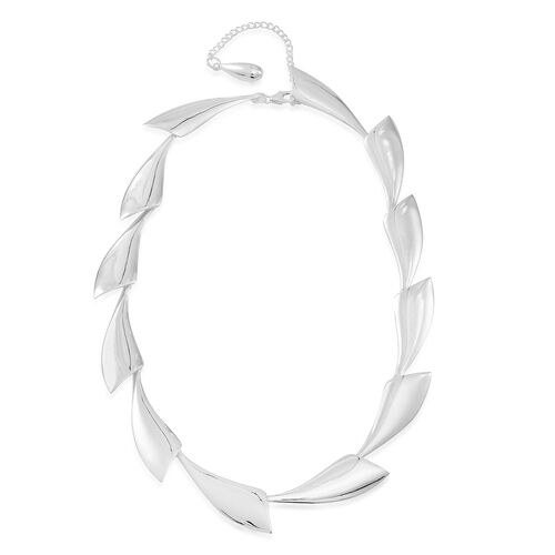 Designer Inspired Sterling Silver Continual Wing Necklace (Size 17 with 3 inch Extender), Silver wt 40.00 Gms.