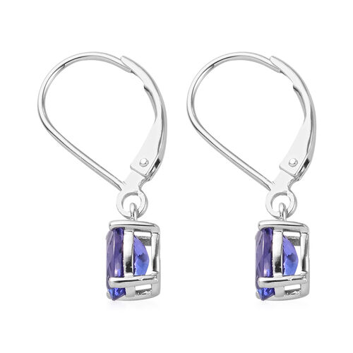 RHAPSODY 950 Platinum AAAA Tanzanite Lever Back Earrings 1.75 Ct.