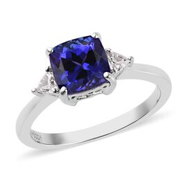 RHAPSODY 950 Platinum AAAA Tanzanite and Diamond (VS/E-F) Ring 2.00 Ct.