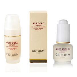 CETUEM  Gold Regenerator Serum 15ml with FREE 15ml SCR Gold Day Serum in liquid format value 60 poun
