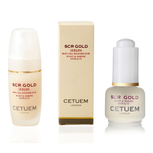 CETUEM  Gold Regenerator Serum 15ml with FREE 15ml SCR Gold Day Serum in liquid format value 60 poun