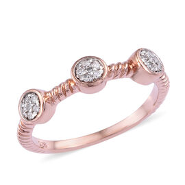 Diamond (Rnd) Ring in Rose Gold Overlay Sterling Silver
