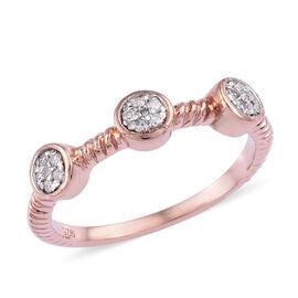 Diamond (Rnd) Ring in Rose Gold Overlay Sterling Silver