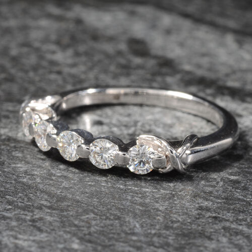ILIANA 18K White Diamond (Rnd) (SI/G-H) Ring 0.500 Ct.Size N