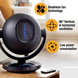 Tors + Olsson Air Pod Bladeless Fan With Remote - Black