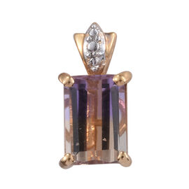 Tucson Collection-Anahi Ametrine (Oct 8x6 mm) Pendant in Platinum and Yellow Gold Overlay Sterling S