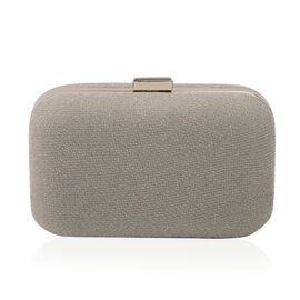 Hardcase Clutch Bag with Chain - Gold