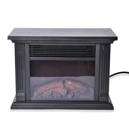 Home Decor - Multi-Function Electric Fireplace Heater (Size 36.8x18.5x25.5 Cm) - Black Colour 500W/1