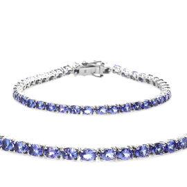 9K White Gold AA Tanzanite (Ovl) Tennis Bracelet (Size 7) 8.000 Ct. Gold Wt. 8.17 Gms