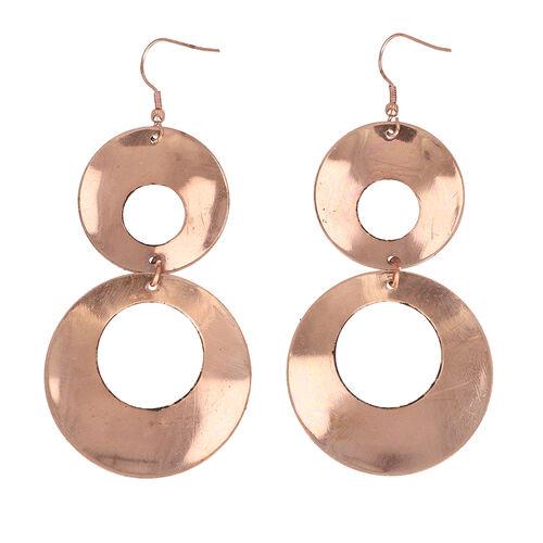 Statement Style Dangle Hook Earring in Bronze Tone