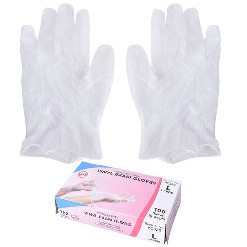 Pack of 100 Disposable Gloves (Size Large)