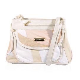 100% Genuine Leather Handbag (Size 21x28x9 Cm) - Beige
