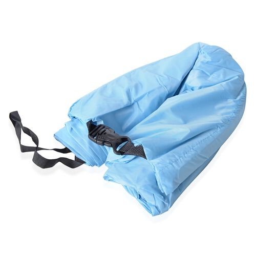Light Blue Colour Self Inflating Air Lounger with Carry Pouch