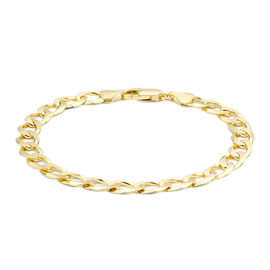 Hatton Garden Close Out 9K Yellow Gold Curb Bracelet (Size 8),  Gold Wt. 10.00 Gms