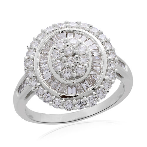 ILIANA 18K White Gold IGI Certified (SI/G-H) Diamond (Rnd) Ring  2.000 Ct., Gold wt 7.46 Gms.