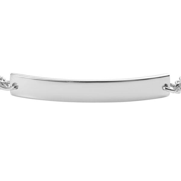 Personalised Engraved Bar Bracelet in Silver