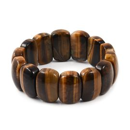 Tigers Eye (Cush 25x17 mm) Stretchable Bracelet (Size 7 to 10) 465.000 Ct.