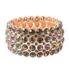 Simulated Mystic Topaz Tennis Bracelet in gold Plated 6.5 Inch Stretchable