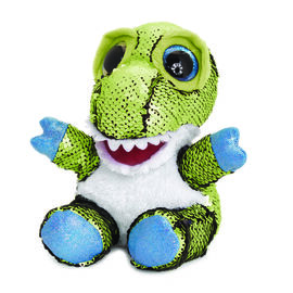 Keel Toys - Glitter Motsu - Green and Blue Sequins Dinosaur