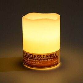 Paraffin Wax and LED Bluetooth Candle Size 10.2x7.5 Cm 3x AAA Batteries Needed