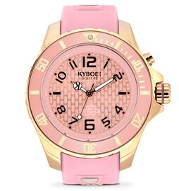 KYBOE Power Collection LED Watch 40MM - Rotating Bezel - 100M Water Resistance - Rose Gold Dawn
