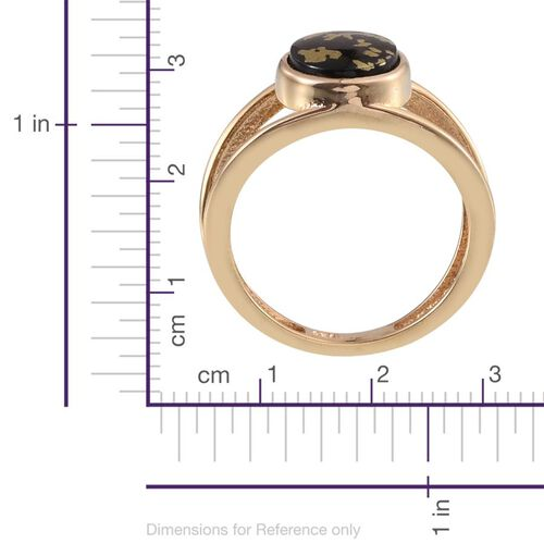 Goldenite (Ovl) Solitaire Ring in 14K Gold Overlay Sterling Silver 2.000 Ct.