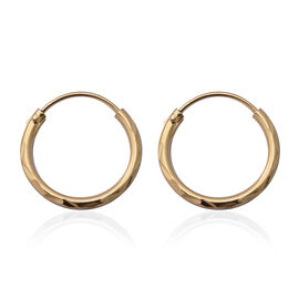 Hatton Garden Close Out Deal - Italian Made- Yellow Gold Overlay Sterling Silver Hoop Earrings