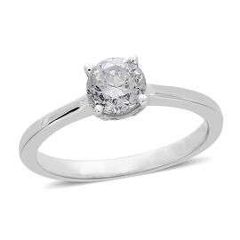 ILIANA 18K W Gold IGI Certified Diamond (Rnd) (SI/ G-H) Solitaire Ring 1.000 Ct..