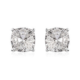 J Francis Crystal from Swarovski White Colour Crystal Earrings (with Push Back) in Platinum Overlay