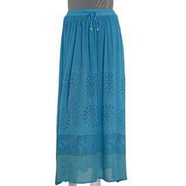Blue Colour One Size Skirt (Size 100x76 Cm)