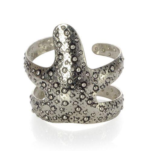 Jewels of India Handicraft Starfish Cuff Bracelet in Silver Tone