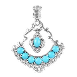 2.40 Ct Arizona Sleeping Beauty Turquoise Pendant in Platinum Plated Sterling Silver