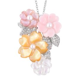 Jardin Collection - Yellow, Pink and White Mother of Pearl, Freshwater Pearl and Natural White Cambo