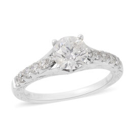 NY Close Out Deal- 14K White Gold Diamond (Rnd) (I2/G-H) Ring 1.33 Ct.