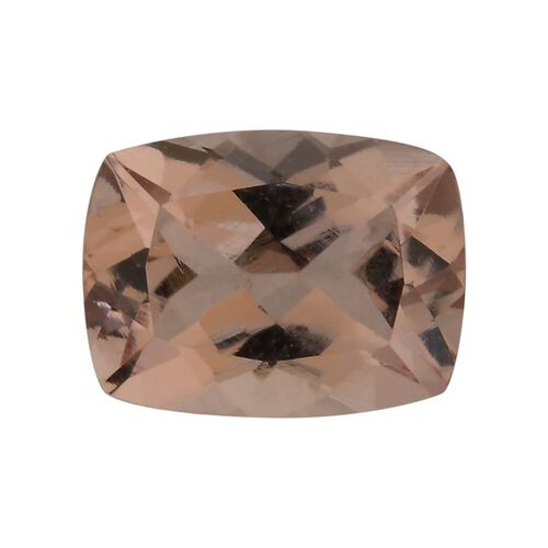 AAA Pink Morganite Cushion 8x6 Faceted 1.25 Cts